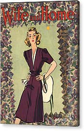 Wife And Home 1940s Uk Womens Magazines Acrylic Print by The Advertising Archives