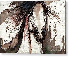 Wild Arabian Horse Acrylic Print by Angel  Tarantella