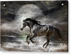 Wild As The Sea Acrylic Print by Carol Cavalaris