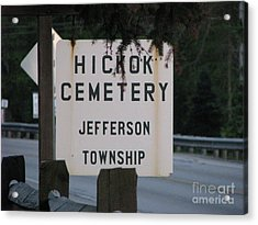 Acrylic Print featuring the photograph Wild Bill Hickok by Michael Krek