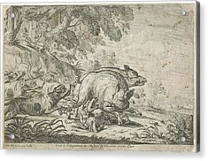 Wild Boar Hunt, Gillis Peeters I, Frans Snijders Acrylic Print by Gillis Peeters (i) And Frans Snijders And Jacques Van Merle