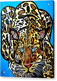 Acrylic Print featuring the painting Wild Cat by Nora Shepley