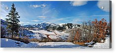 Acrylic Print featuring the photograph Wild Cat Ranch - Snowmass by Allen Carroll