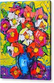 Wild Colorful Flowers Acrylic Print by Ana Maria Edulescu