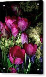 Wild Crazy Beautiful Tulip Garden Acrylic Print