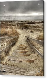 Wild Dunes Beach South Carolina Acrylic Print by Dustin K Ryan