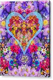 Wild Flower Heart Acrylic Print