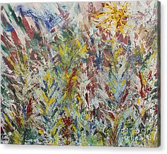 Wild Flowers Acrylic Print by Andrew J Andropolis