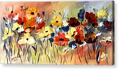 Acrylic Print featuring the painting Wild Flowers by Dorothy Maier
