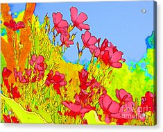 Wild Flowers In Bloom Acrylic Print by Julie Lueders