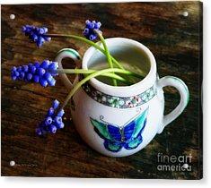 Wild Flowers In Sugar Bowl Acrylic Print