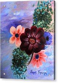 Wild Flowers Acrylic Print by Janis  Tafoya
