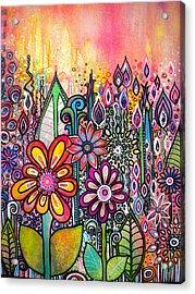 Wild Flowers Acrylic Print by Robin Mead
