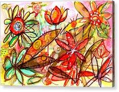 Wild Flowers Series #1 Acrylic Print by Niya Christine
