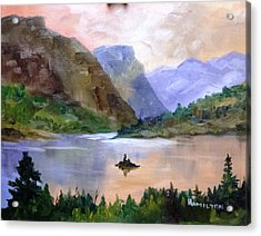 Wild Goose Island Acrylic Print by Larry Hamilton