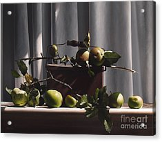 Wild Green Apples Acrylic Print by Larry Preston