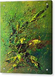 Wild Green Acrylic Print by Thierry Vobmann