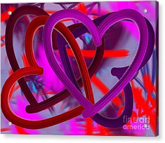 Acrylic Print featuring the painting Wild Hearts by Go Van Kampen