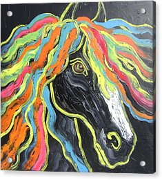 Wild Horse Acrylic Print by Isabelle Gervais