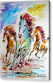 Wild Horses Running Acrylic Print