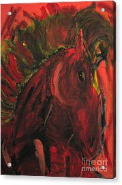 Acrylic Print featuring the painting Wild N' Free by Wendy Coulson
