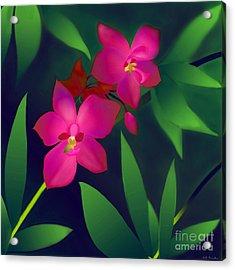 Acrylic Print featuring the digital art Wild Orchids by Latha Gokuldas Panicker