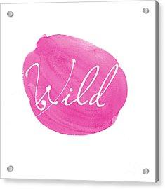 Wild Pink Acrylic Print by Marion De Lauzun