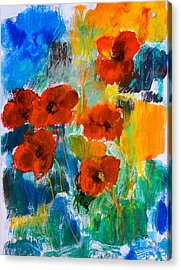 Acrylic Print featuring the painting Wild Poppies by Elise Palmigiani