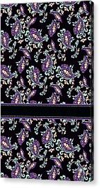 Wild Purple Paisley Acrylic Print by Jenny Armitage