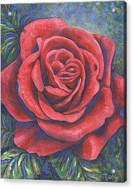 Wild Rose Three Acrylic Print by Linda Mears