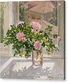 Wild Rose Acrylic Print by Victoria Kharchenko