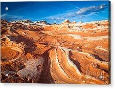 Wild Sandstone Landscape Acrylic Print by Inge Johnsson