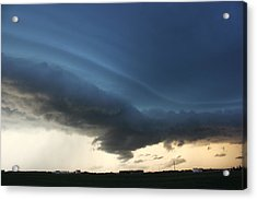 Acrylic Print featuring the photograph Wild Shelf Cloud by Ryan Crouse