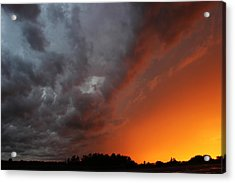 Wild Storm Clouds Over Yorkton Acrylic Print by Ryan Crouse