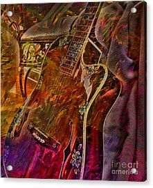 Wild Strings Digital Guitar Art By Steven Langston Acrylic Print by Steven Lebron Langston
