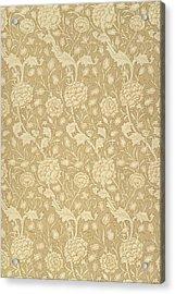 Wild Tulip Wallpaper Design Acrylic Print by William Morris