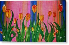 Wild Tulips Acrylic Print by Cindy Micklos