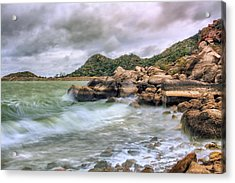 Wild Weather On Lake Altus - Oklahoma - Quartz Mountains Acrylic Print