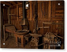 Acrylic Print featuring the photograph Wild West Blacksmith by Keith Kapple