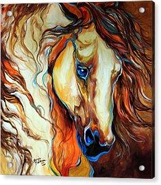 Wild West Buckskin Acrylic Print by Marcia Baldwin