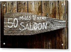 Wild West Saloon Sign Acrylic Print