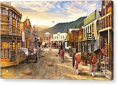 Wild West Town Acrylic Print