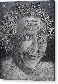 Acrylic Print featuring the painting Wilder Einstein by Steve  Hester
