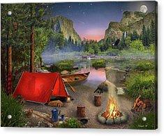 Wilderness Trip Acrylic Print by David M ( Maclean )