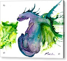 Wildfire And Water Dragon Acrylic Print