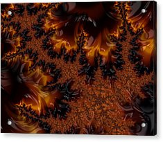 Acrylic Print featuring the digital art Wildfire by Owlspook