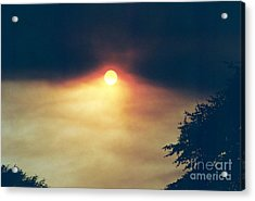Acrylic Print featuring the photograph Wildfire Smoky Sky by Kerri Mortenson