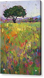 Acrylic Print featuring the painting Wildflower Hill by Erin Hanson