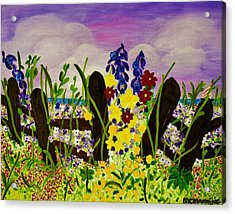 Wildflowers By The Sea Acrylic Print by Celeste Manning