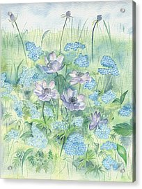 Acrylic Print featuring the painting Wildflowers by Elizabeth Lock